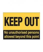Wandplaatje verboden toegang