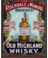 Wandplaatje whiskey rochdale en manor 10040213