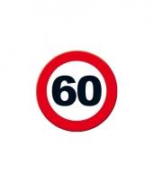 Wandposter rond verkeersbord 60