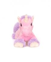 Warm knuffel roze paard met vleugels babyshower kado 18 cm