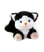 Warm knuffel zwarte kat babyshower kado 18 cm