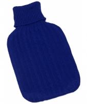 Warm water kruik blauwe hoes 1 l