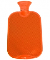 Warm water kruik oranje 2 l