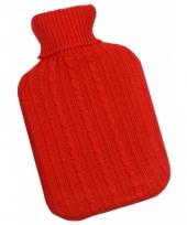 Warm water kruik rode hoes 1 l