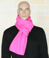 Warme fleece sjaals fuchsia roze