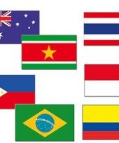 Warme landen vlaggen pakket