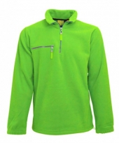 Warme lime gekleurde fleece trui