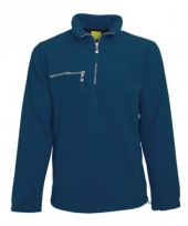 Warme navy gekleurde fleece trui
