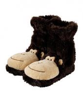 Warme sokken bruine aap