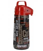 Warmhoudkan zwart rood 1900 ml