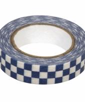 Washi knutsel tape blauwe blokjes