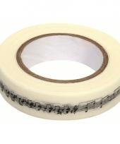 Washi knutsel tape met muzieknoten