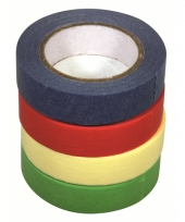 Washi knutsel tape set 4 kleuren