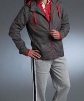 Waterafstotend jack grijs met rood
