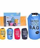 Waterdichte tas fuchsia 10 liter