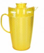 Waterkan met koelelement geel