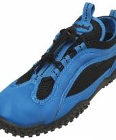 Waterschoen blauw met zwart voor heren