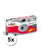 Wegwerp cameras met 27 fotos 5 st
