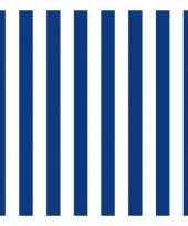Wegwerpservetten strepen marineblauw wit 3 laags 20 stuks