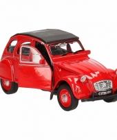 Welly rood citroen 2cv speelgoedautootje 11 cm