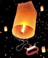Wens ballon met vliegertouw 75 cm