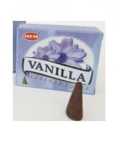 Wierook kegels met vanille geur