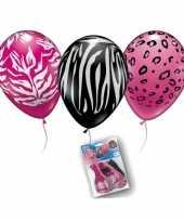 Wilde dierenprint ballonnetjes 10124051