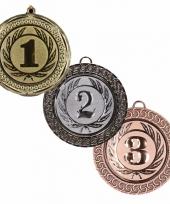 Winnaars medailles set 1e 2e en 3e