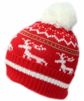 Winter beanie muts met winter print