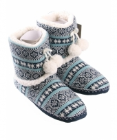 Winter dames pantoffels blauw
