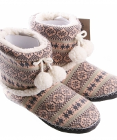 Winter dames pantoffels roze