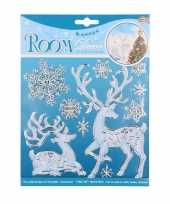 Winter decoratie raamstickers hert