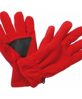 Winter fleece handschoenen rood