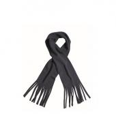 Winter fleece sjaal met franjes navy