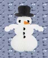Winter sneeuwman van papier en karton