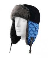 Wintermuts beardsen met blauwe flappen