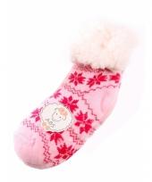 Wintersokken roze fuchsia voor kinderen