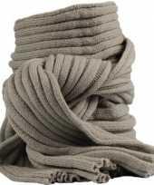 Wintersport shawls khaki voor volwassenen