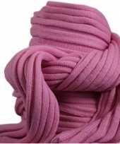 Wintersport shawls roze voor volwassenen