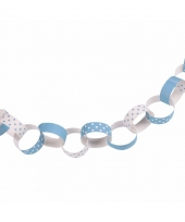 Wit blauwe ketting slinger 36 ringen