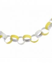 Wit gele feest slinger 36 ringen