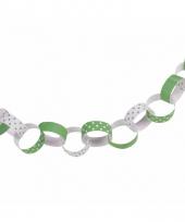 Wit groene ketting slinger 36 ringen