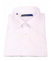 Wit heren overhemd met extra lange mouwen 10015552