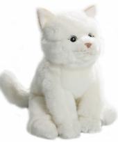 Wit katten knuffeltje 22 cm