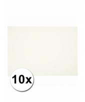 Wit knutsel karton a4 10 stuks