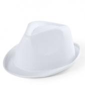 Wit maffia gangster hoedje voor kinderen