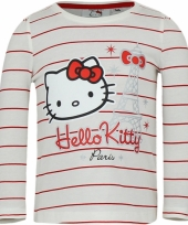 Wit met rood shirt met hello kitty
