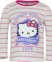 Wit met roze shirt met hello kitty