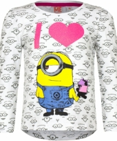 Wit minion kinder shirt
