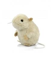 Wit muizen knuffeltje 13 cm